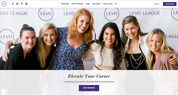 Levo League homepage screenshot